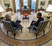 Bush and Obama meet in 2009