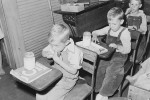 School lunch in 1945 (from the Department of the Interior)