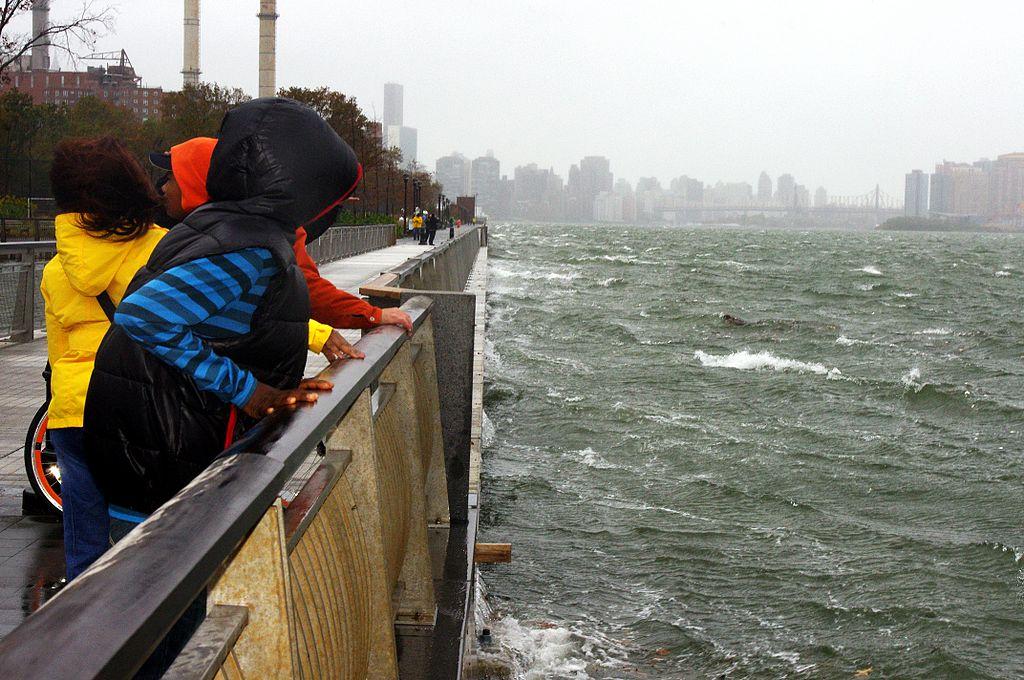 The East River in Manhattan during Hurricane Sandy (by David Shankbone)