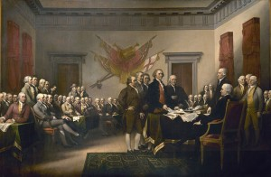 """""""Declaration of Independence"""" by John Trumbull (Source: US Capitol; public domain)"""
