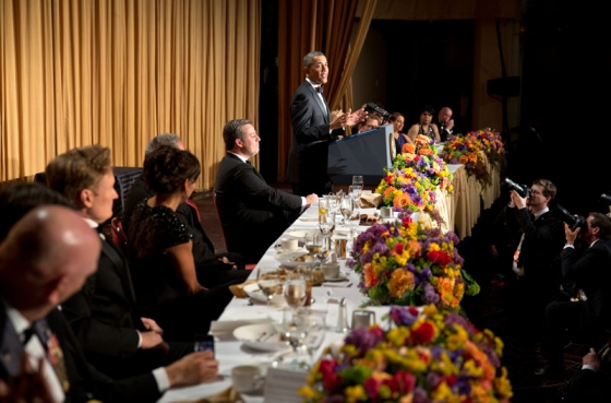 President Obama speaks at White House Correspondents' Dinner. (Official White House Photo by