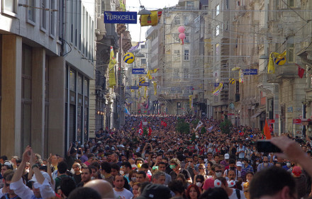 Protestors in Taksim Square. Alan Hilditch, Flickr, Creative Commons