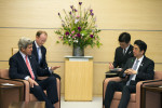 Japanese PM Shinzo Abe and Sec. of State Kerry. U.S. Gov't Work, Flickr.
