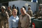 9 - Senator Gillibrand with soldier in Helmand