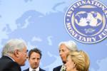 Strauss-Kahn, former Treasury Secretary Geithner, Lagarde, and Spanish Minister of Economy and Finance Elena Salgado. Michael Spilotro, Flickr, Creative Commons.