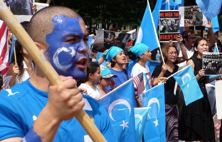 A Uighur protest in DC. PHOTO COURTESY of Wikimedia Commons