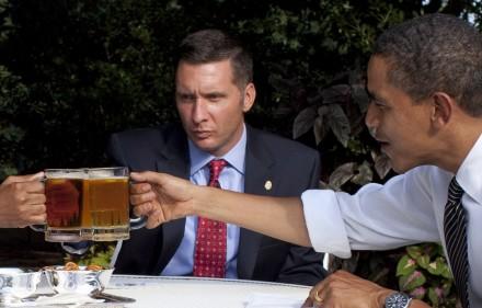 "President Obama's ""Beer Summit"" Wikicommons"