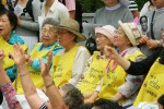 Comfort women hold a rally at the Japanese embassy in Seoul in August 2011. Wikicommons.