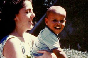 Obama and his mother. Flickr. Creative Commons License