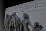 """A quote by Justice Thurgood Marshall at the Virginia Civil Rights Memorial. What would he have said about these decisions? By """"Ron Cogswell."""" Flickr, Creative Commons license."""