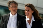 Bill and Melinda Gates visiting the Oslo Opera House in 2009.