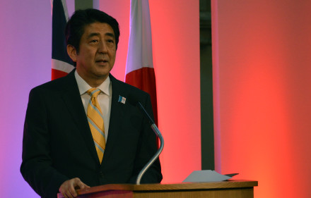 Prime Minister Abe. Chatham House, Wikimedia Commons, Creative Commons.
