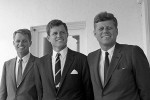 The Kennedy brothers pose together in this famous photo.