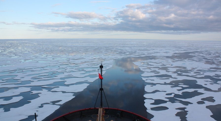 U.S. Coast Guard Cutter Healy in the Beaufort Sea, northeast of Barrow, Alaska