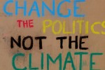 A poster from the 2010 Earth Day Climate Rally in Washington, DC.