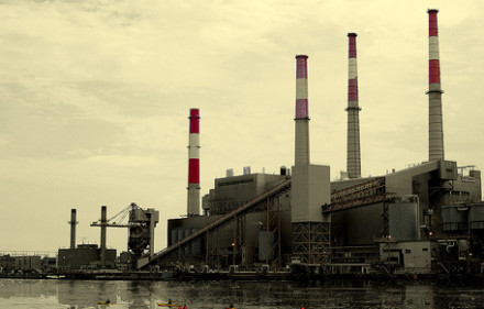 The fate of these smokestacks hangs in the balance. Image via.