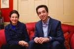 Olympia Snowe and BPR's Henry Knight.