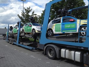 Google's army of Street View cars. Photo by Jaap Meijers