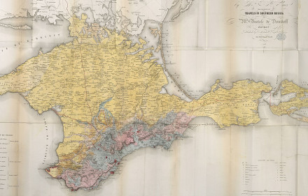 Geological_map_of_the_Crimea_-_Travels_in_Southern_Russia,_and_the_Crimea_(1853)_-_BL