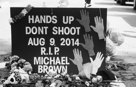 """Hands up, Don't Shoot."""