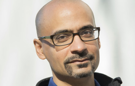 CAMBRIDGE, MA - SEPTEMBER 20:  Author Junot Diaz, 2012 MacArthur award recipient on September 20, 2012 in Cambridge, MA.  (Photo by Tsar Fedorsky for Home Front Communications)
