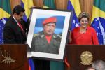 Brasília – A presidenta Dilma Rousseff e o presidente da Venezuela, Nicolás Maduro, durante declaração à imprensa, no Palácio do Planalto