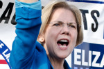 Senator Elizabeth Warren (D-MA) has made a name for herself as a populist crusader, with an Oklahoma drawl to match.  Credit: Tim Pierce Source: https://www.flickr.com/photos/qwrrty/8152000438/
