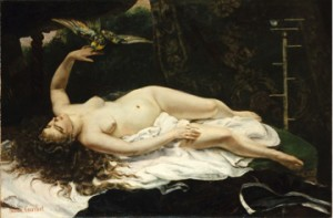 Gustave Courbet's Woman with a Parrot